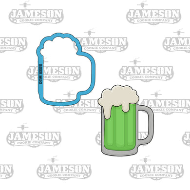 St. Patrick Day Green Beer Mug Cookie Cutter - St Patty - Ale