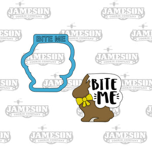 Bite Me Plaque Cookie Cutter - Easter Bunny