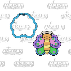 Cute Butterfly Cookie Cutter - Spring Chubby Butterfly - Easter / Birthday Theme - Butter Fly