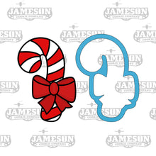 Load image into Gallery viewer, Christmas Candy Cane Cookie Cutter - Candycane with Bow