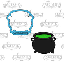 Load image into Gallery viewer, Halloween Witch Cauldron Cookie Cutter