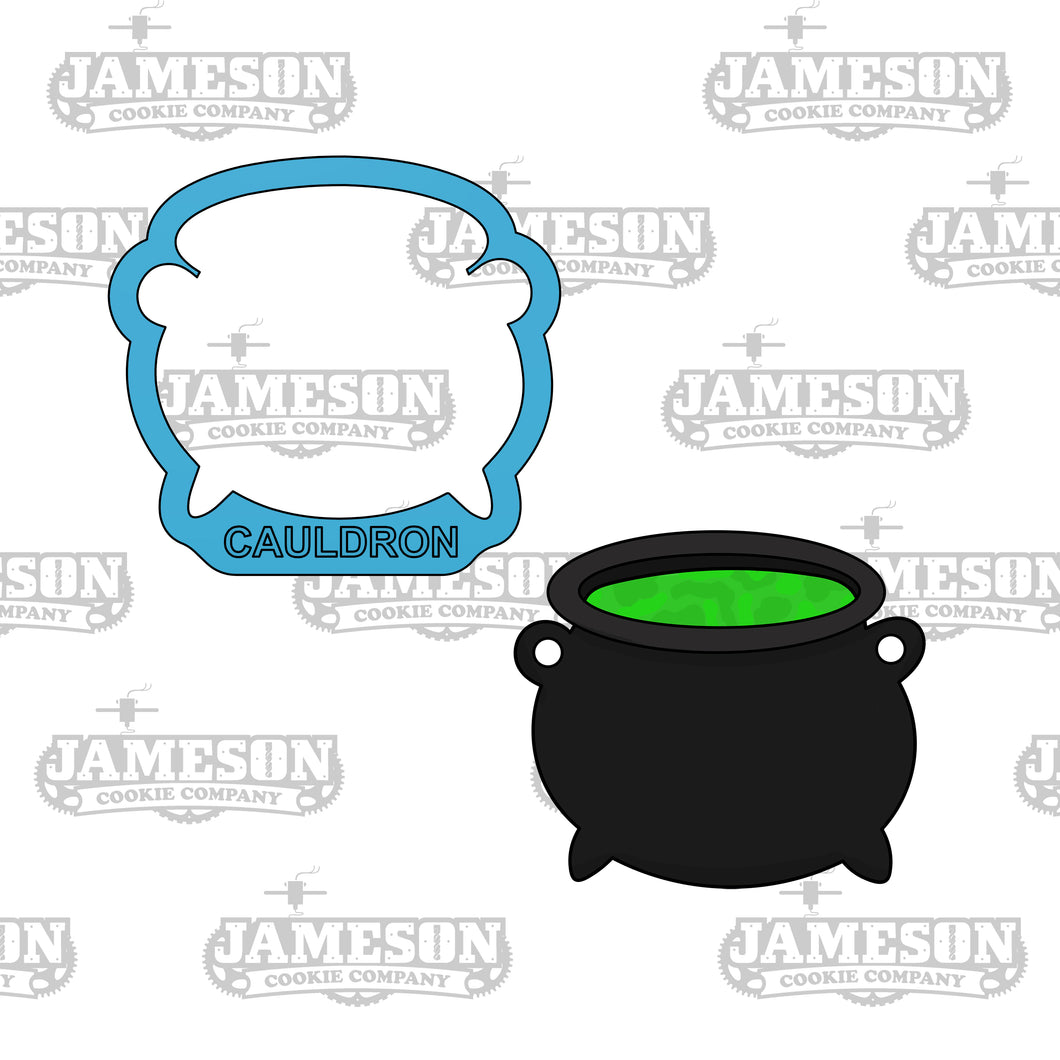 Halloween Witch Cauldron Cookie Cutter