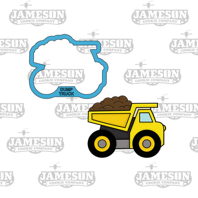 Dump Truck Hauling Dirt Cookie Cutter - Construction Theme Birthday Party