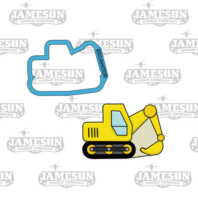Excavator Cookie Cutter - Construction Theme Birthday Party - Steam Shovel