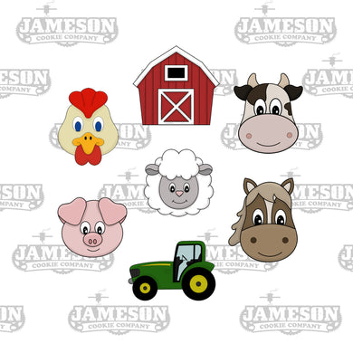 Farm Barnyard Cookie Cutter Set - Birthday Theme - Animals