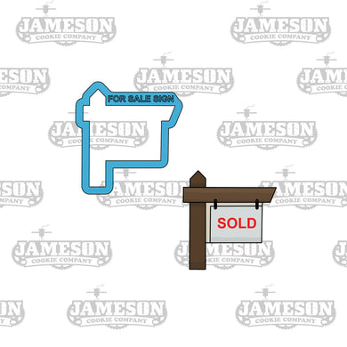 For Sale or Sold Sign Cookie Cutter - Realtor, Real Estate Theme