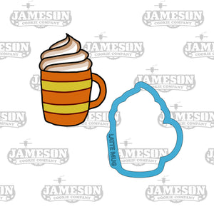 Fall Latte Cookie Cutter - Pumpkin Spice - Latte Mug - Coffee Cup