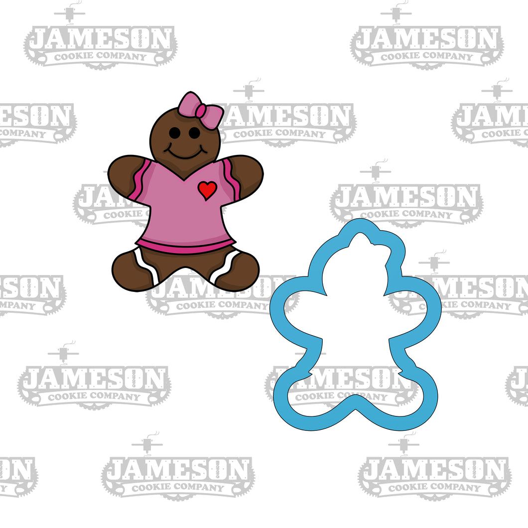 Christmas Gingerbread Girl Cookie Cutter - Ginger Snap - Ginger Bread Woman
