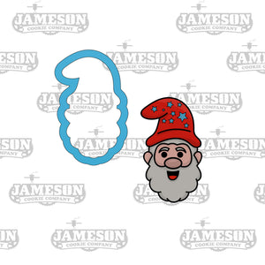 Gnome Cookie Cutter - Christmas Garden Santa Gnome Cookie Cutter