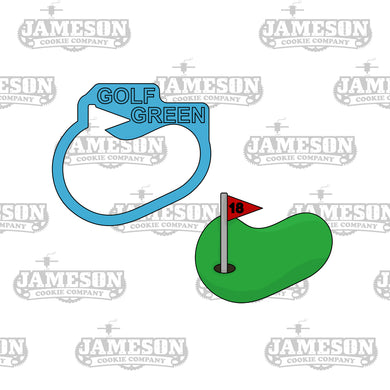 Golf Putting Green with Flag Cookie Cutter