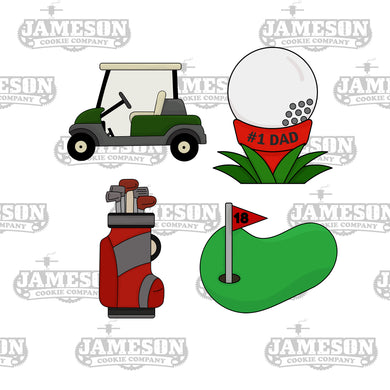 Golf Theme Cookie Cutter Set - Father's Day