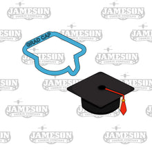Load image into Gallery viewer, Graduation Diploma and Cap Cookie Cutter Set - Senior High School Commencement - 2020