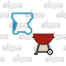 Load image into Gallery viewer, BBQ Grill Cookie Cutter - Summer or Cookout Theme - Father Day Theme