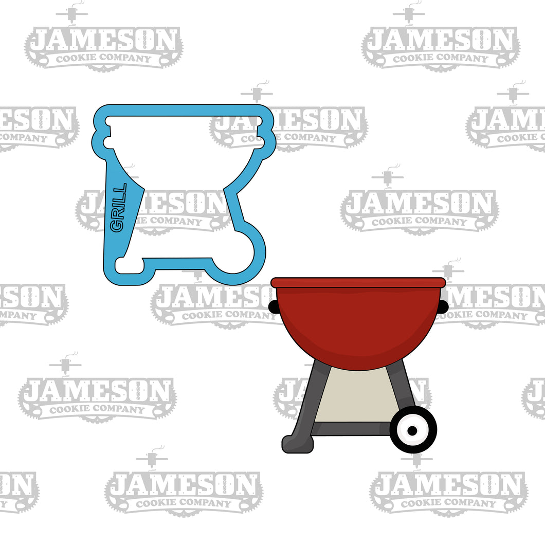 BBQ Grill Cookie Cutter - Summer or Cookout Theme - Father Day Theme