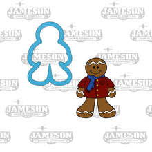 Load image into Gallery viewer, Christmas Gingerbread Boy Cookie Cutter - Chubby Ginger Bread Man - Ginger Snap