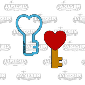 Key Heart Cookie Cutter - Valentine's Day - Key To My Heart - Love