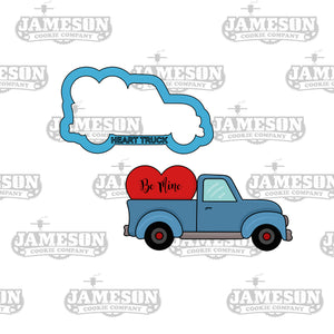 Truck Hauling Heart Cookie Cutter - Valentine's Day - Be Mine - Vintage Love Truck