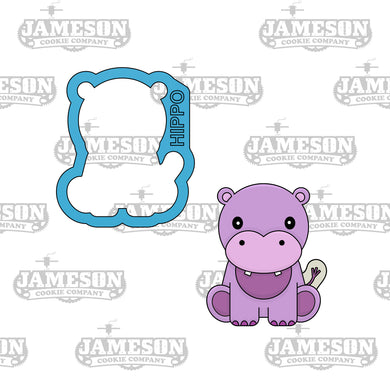 Hippo Cookie Cutter - Safari Animal Theme