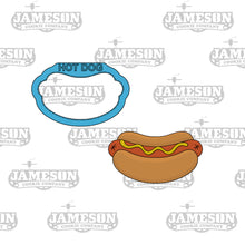 Load image into Gallery viewer, Hot Dog Cookie Cutter - Hot Link, Brats, Food Cookie Cutters