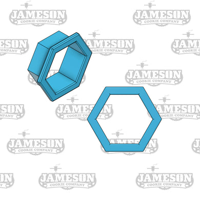 Hexagon Cookie Cutter - Honeycomb - Plaque Shaped Cookie Cutter
