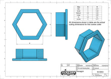 Load image into Gallery viewer, Hexagon Cookie Cutter - Honeycomb - Plaque Shaped Cookie Cutter