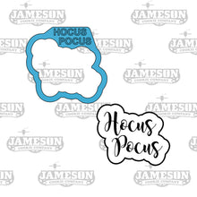 Load image into Gallery viewer, Hocus Pocus Script Lettered Cookie Cutter - Hocus Pocus Outline