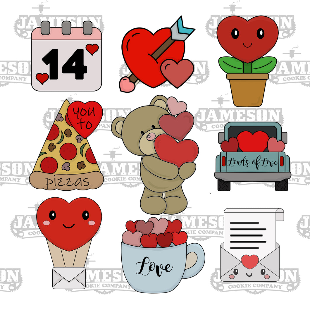 January 2021 Monthly Themed Cutter Box - Valentine's Day