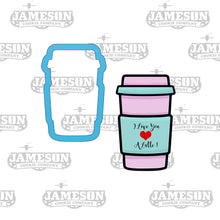 Load image into Gallery viewer, Valentine's Day Love Latte Cookie Cutter - Coffee Lover
