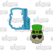 Load image into Gallery viewer, Leprechaun Llama Cookie Cutter - St. Patrick's Day Theme