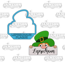 Load image into Gallery viewer, Leprechaun Plaque Cookie Cutter - St. Patrick's Day Theme