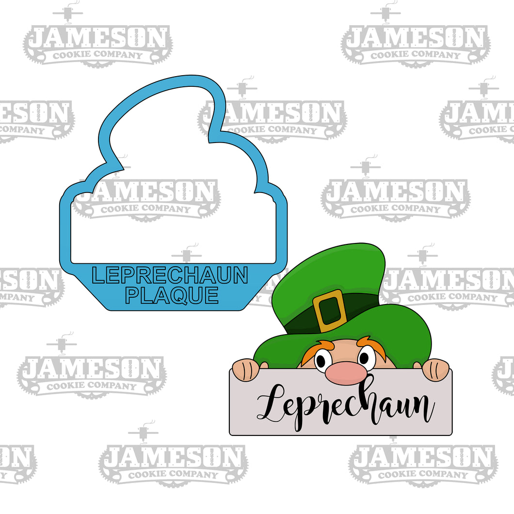 Leprechaun Plaque Cookie Cutter - St. Patrick's Day Theme