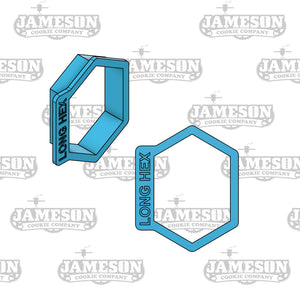 Long or Tall Hexagon Plaque Cookie Cutter