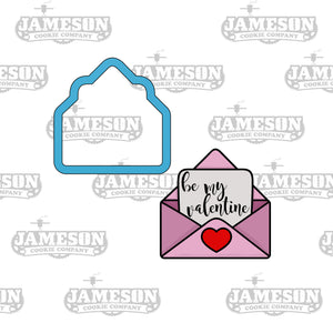 Valentine's Day Love Letter Cookie Cutter - Be Mine Envelope