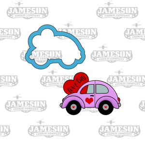 Valentine's Day Love Bug Car Heart Cookie Cutter - Slug Bug