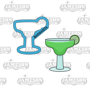 Margarita with Lime Cookie Cutter - Cinco De Mayo Theme