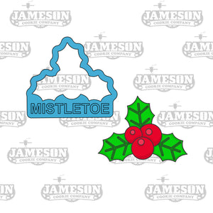 Christmas Mistletoe Holly Cookie Cutter