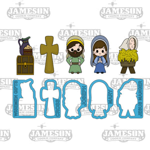 Nativity Stick Cookie Cutter Set - Christmas