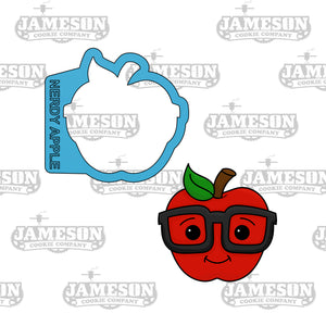 Nerdy Apple Cookie Cutter - Teacher Appreciation - Back To School
