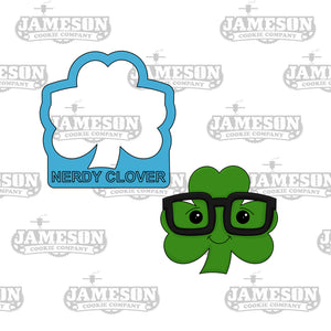 Nerdy Clover Cookie Cutter - St. Patrick's Day Theme
