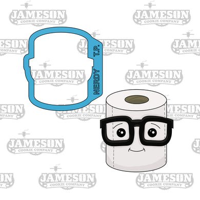 Nerdy Toilet Paper Cookie Cutter - TP - Toilet Paper with Glasses