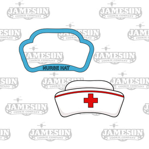 Nurse Appreciation Cookie Cutter Set - Doctor Medical Theme - Scrubs, Hat, Pill, Bandaid, Mask, Syringe