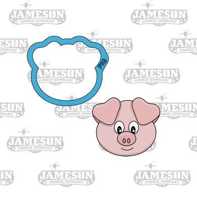 Pig Head Cookie Cutter - Farm Animals - Birthday Theme