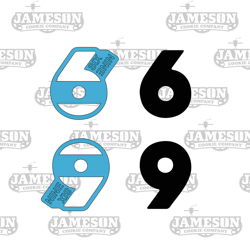 Number 6 (Six) or 9 (Nine) Cookie Cutter Set - Birthday, Plaque