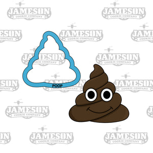 Poop Emoji and Toilet Paper Cookie Cutter Set - TP