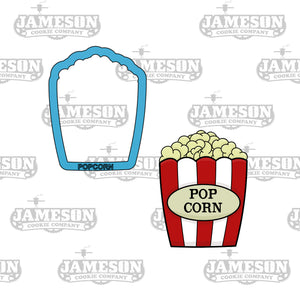 Movie Theme Cookie Cutter Set - Cinema - Theater - Popcorn, 3D Glasses, Clapboard, Projector, Ticket