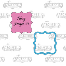 Load image into Gallery viewer, Square Fancy Plaque #1 Cookie Cutter