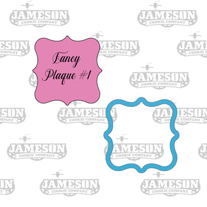 Square Fancy Plaque #1 Cookie Cutter