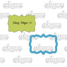 Load image into Gallery viewer, Rectangular Fancy Plaque #2 Cookie Cutter