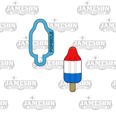 Rocket Popsicle Cookie Cutter - Ice Cream-  Summer Theme