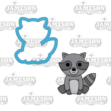 Woodland Creature Raccoon Cookie Cutter - Animal Birthday Party Cookie Cutter